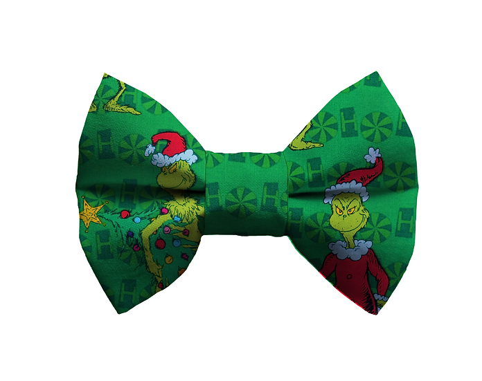 Green Grinch Bow Tie