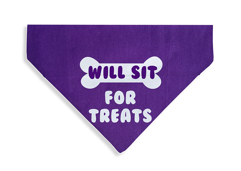 Will Sit For Treats Bandana - From $17
