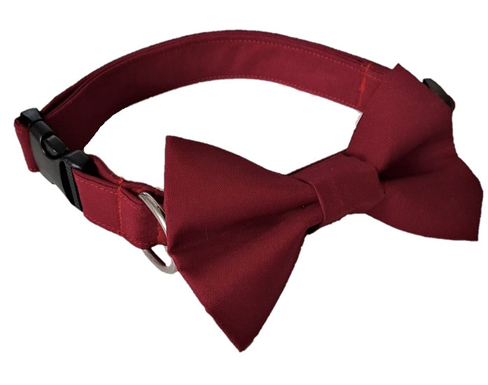 Burgundy Bow Tie Collar - From $35