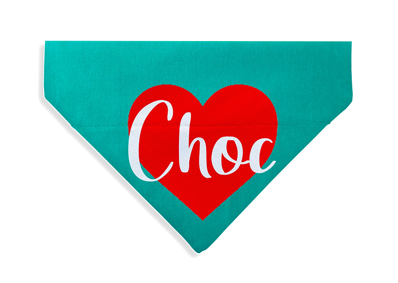 Named Heart Bandana - From $17
