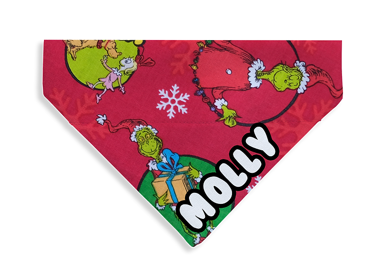 Red Grinch Bandana