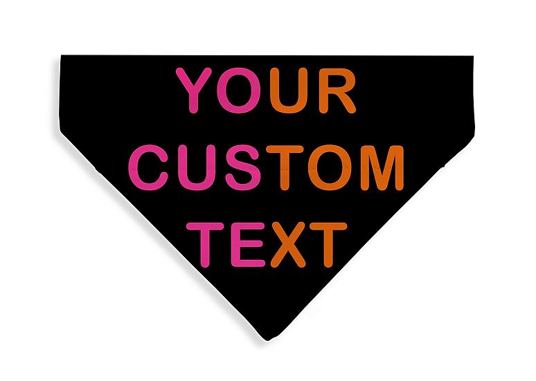 NEON Custom Text Bandana - From $17