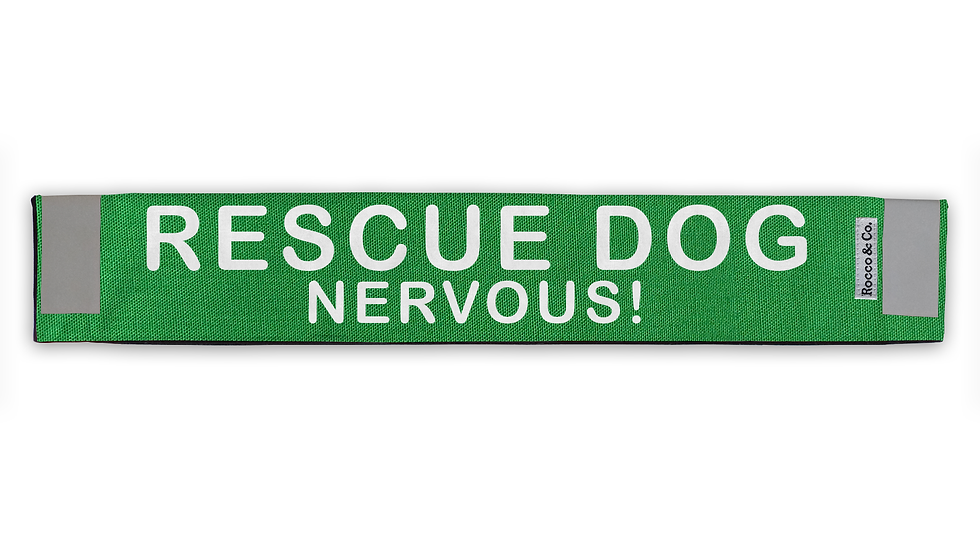 Rescue Dog Nervous Lead Cover - $35