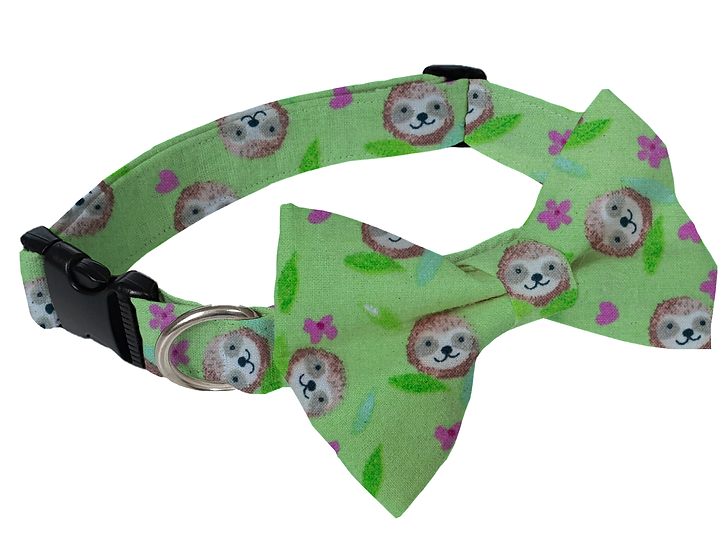 Sloth Face Collar (Bow Tie Optional) - From $30