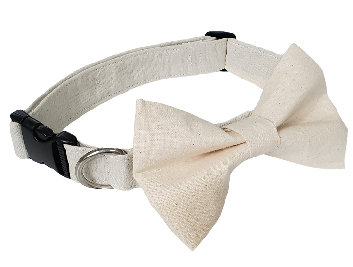 Ivory Bow Tie Collar - From $35