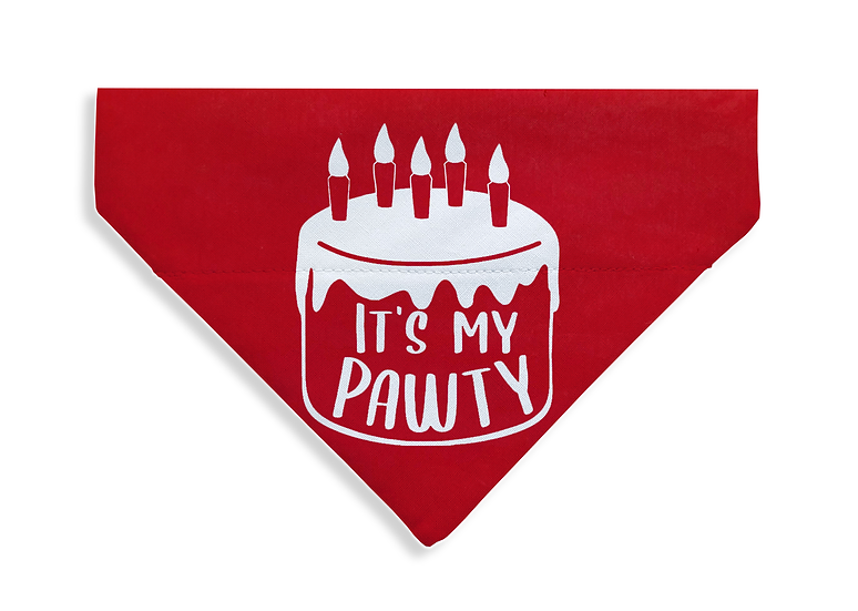 It's My Pawty Bandana - From $17