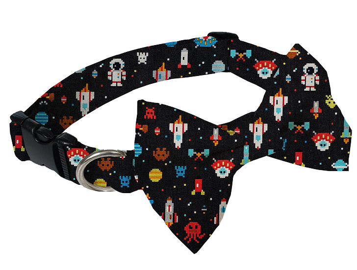 Space Game Collar (Bow Tie Optional) - From $30