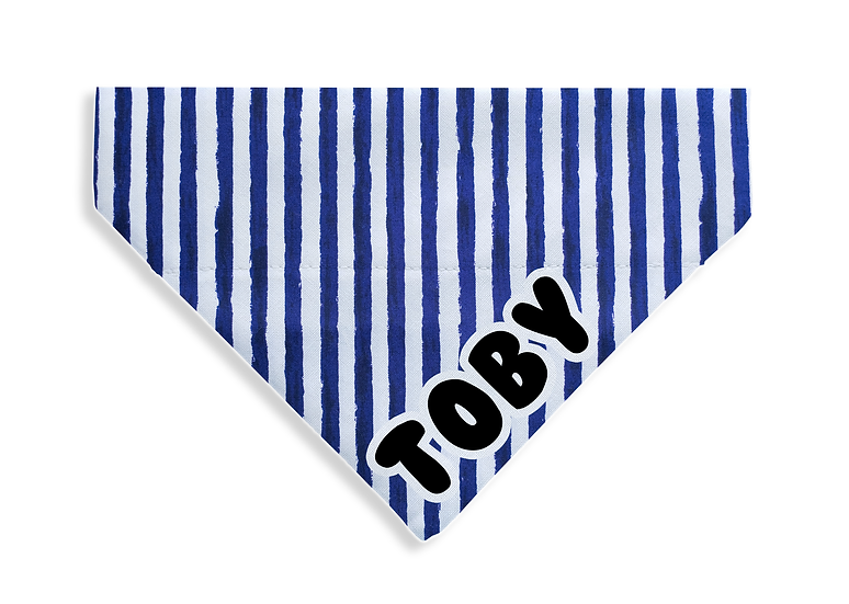 Navy Stripe Bandana - From $10