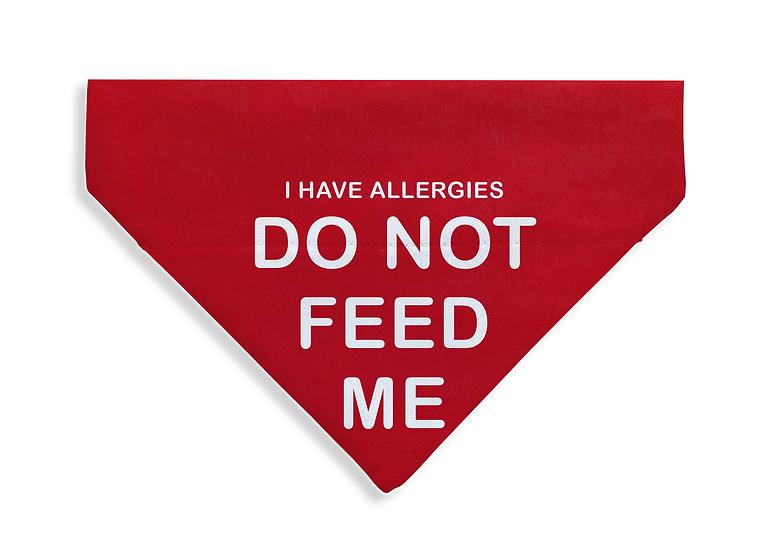 Allergies - Do Not Feed Bandana - From $17