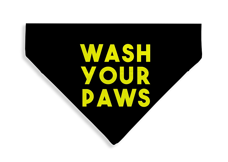 Wash Your Paws Bandana - From $17