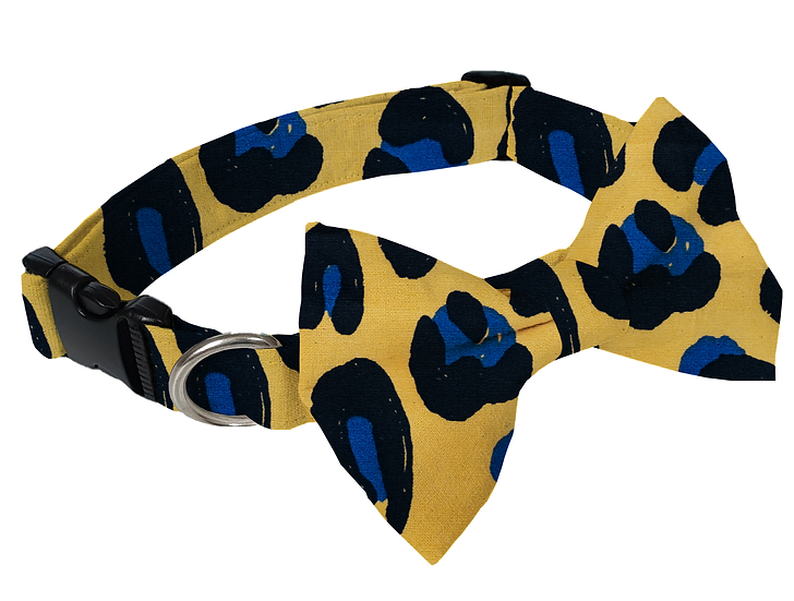 Cheetah Collar (Bow Tie Optional) - From $30