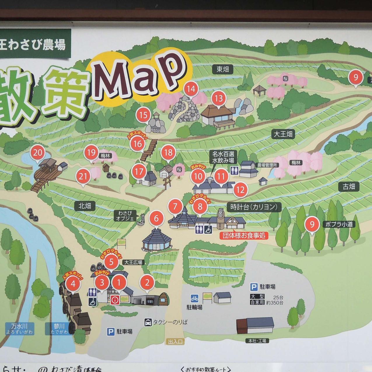 大王わさび農場map