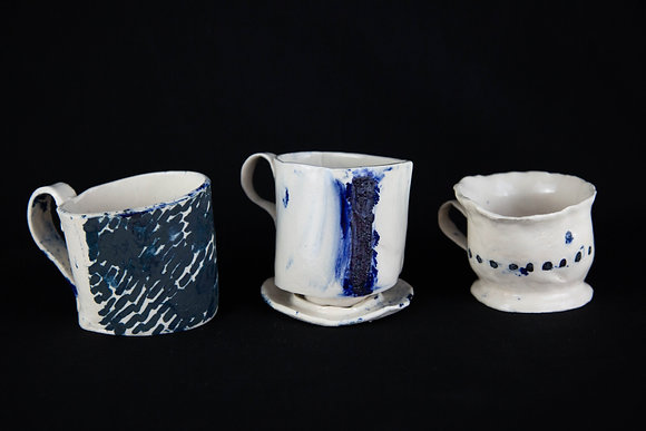 Three Mantle Cupsies by Lily Paris Napach