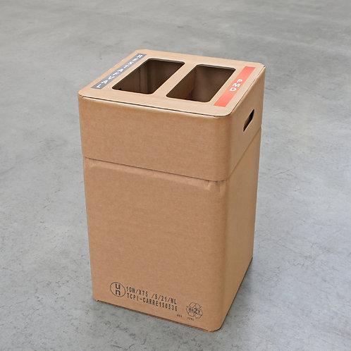 Duo afvalbak karton rest/PMD