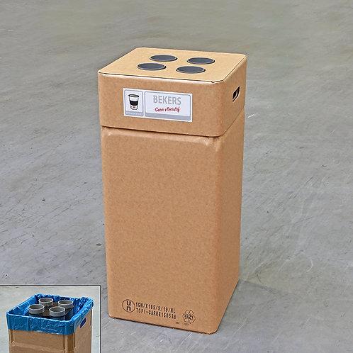 Kartonnen afvalbak bekers 90 mm