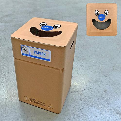 Kartonnen afvalbak papier type smile