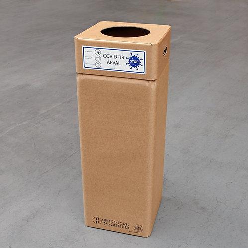 COVID-19 Kartonnen afvalbak