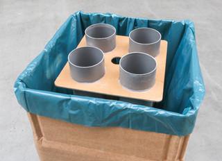 Afvalbak van AFVALBOX nu ook voor inzameling van bekers