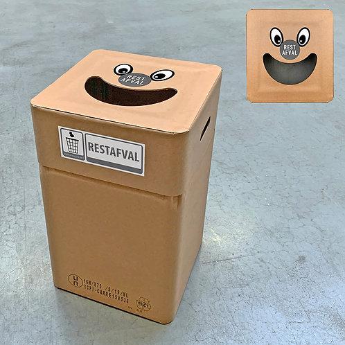Kartonnen afvalbak rest type smile