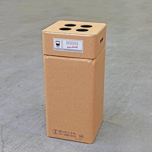 Kartonnen afvalbak Losse bekers
