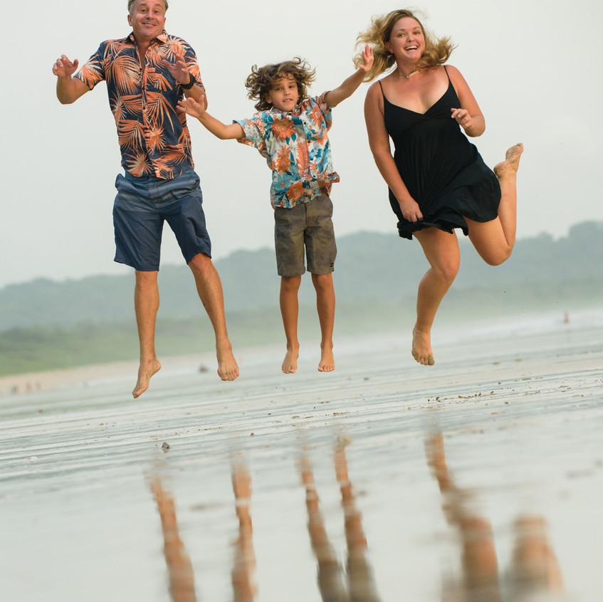 Family photoshoot in Costa Rica