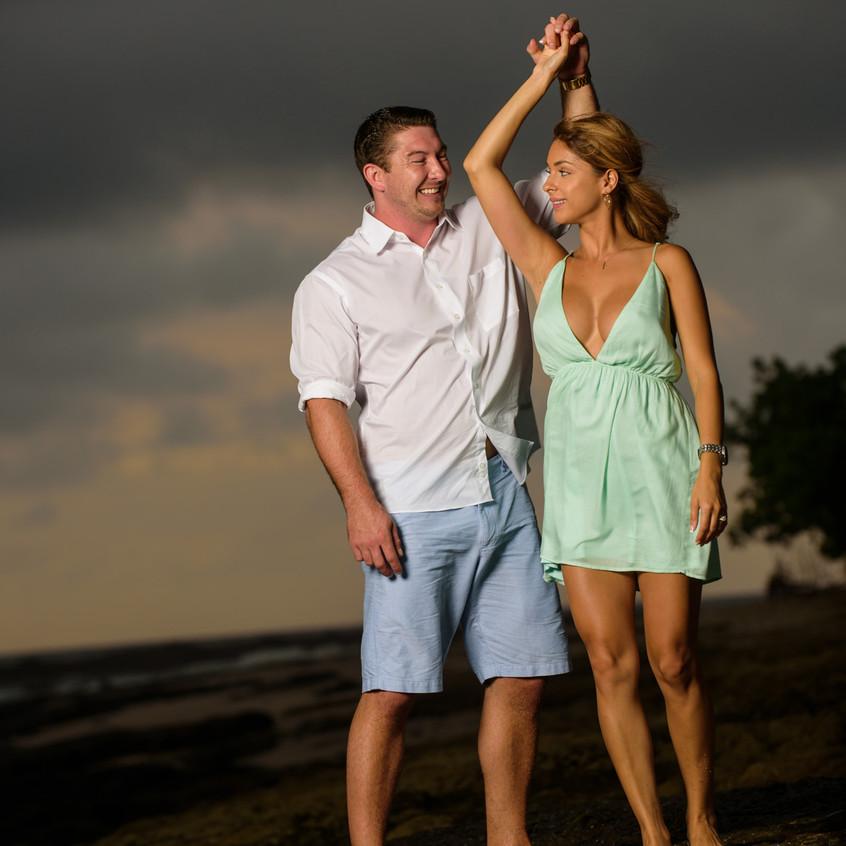 Best surprise engagement photographer in Tamarindo, Costa Rica