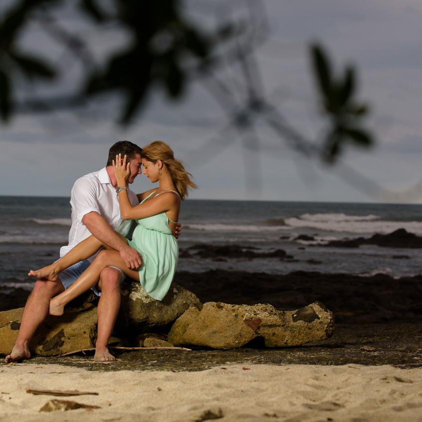 Surprise engagement in Tamarindo Costa Rica