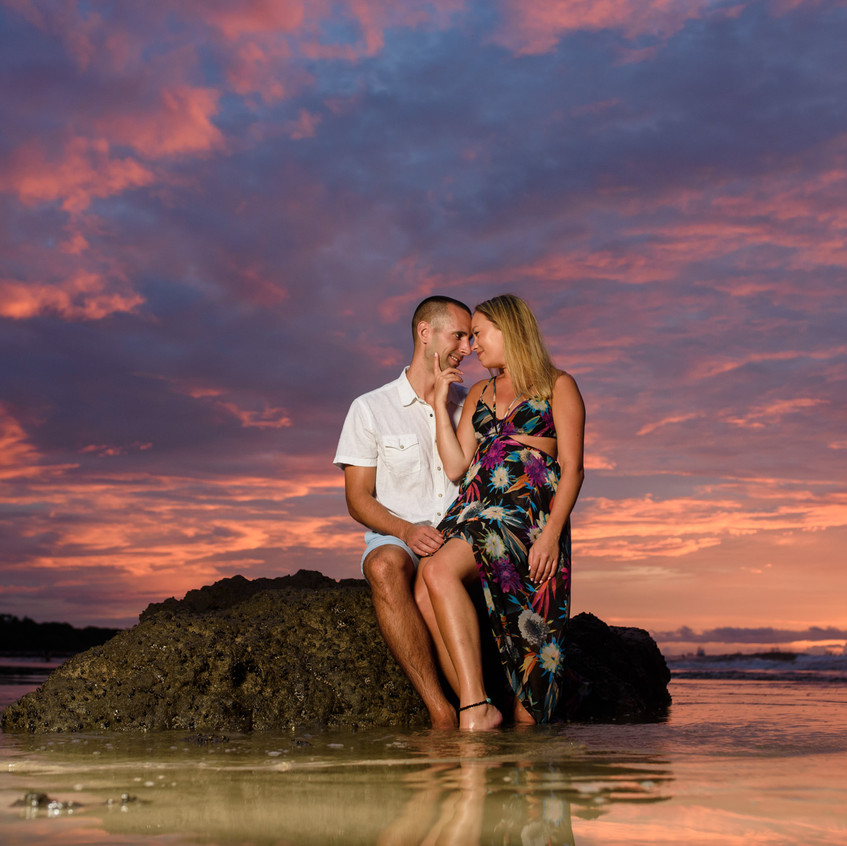 Professional beach photography for couples in Tamarindo, Costa Rica.