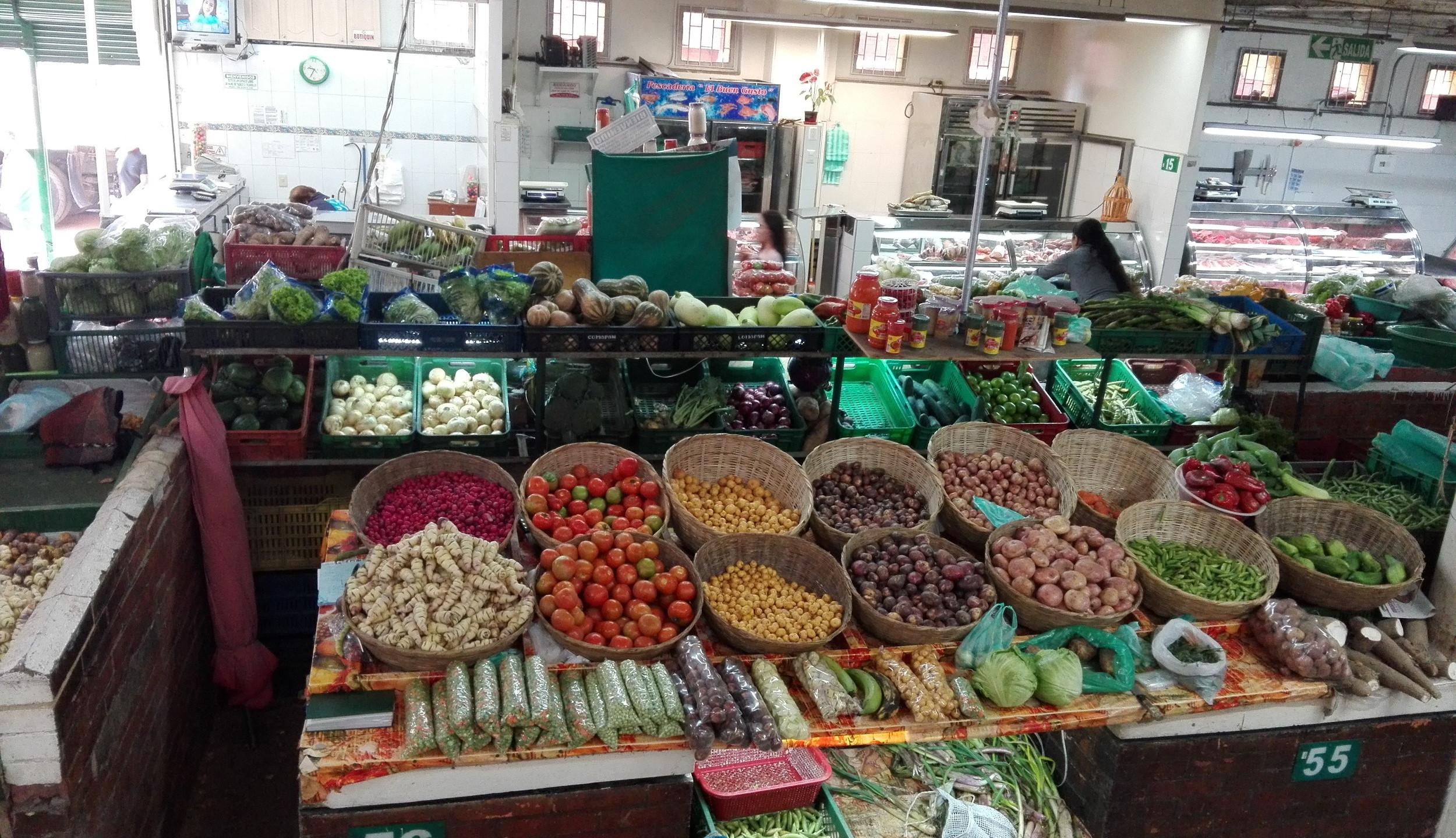 Sección de verduras, primer piso