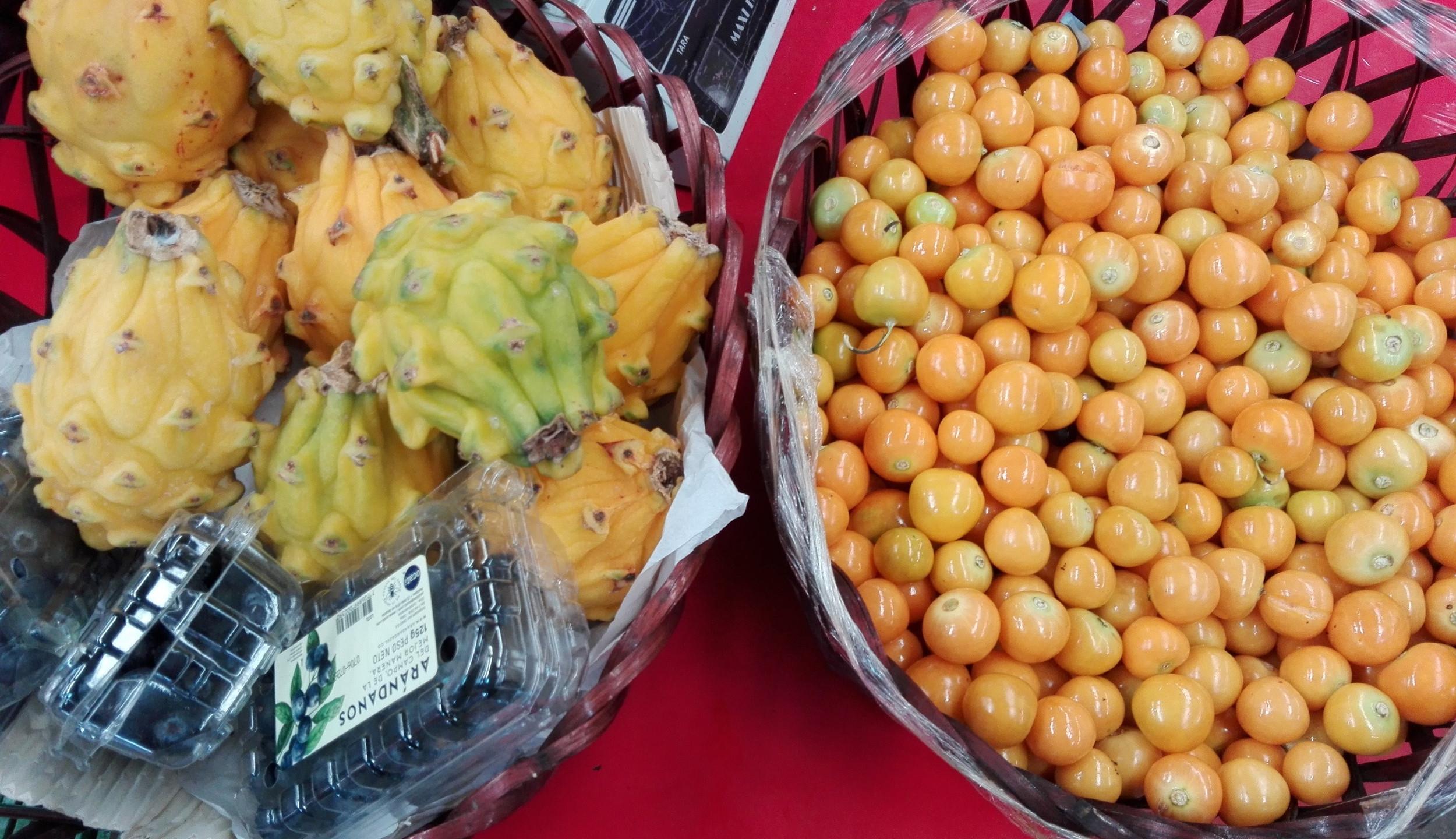 Productos a la venta en Frutilandia