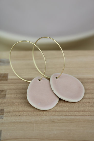Earrings | River Rock Blush Pink