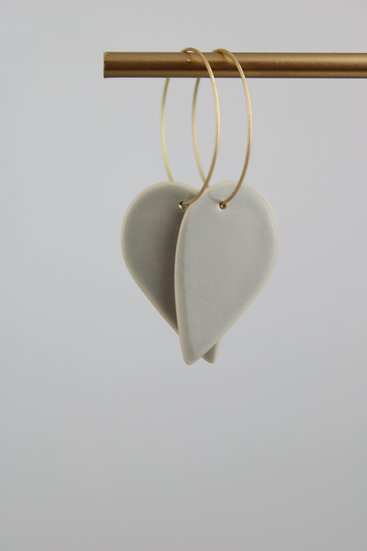 Earrings  | Grey Rounded Drops