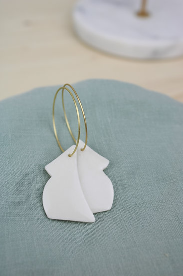 Earrings  |  Porcelain White Baby Mamas