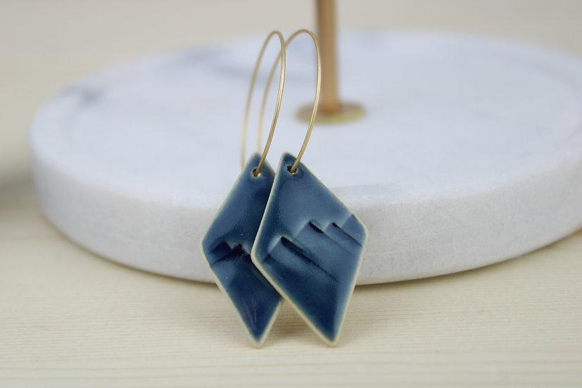 Earrings  |  Navy Mountain Diamond