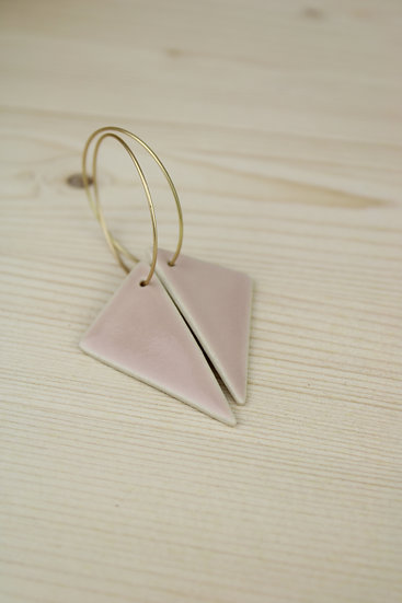 Earrings  | Triangle Blush Pink