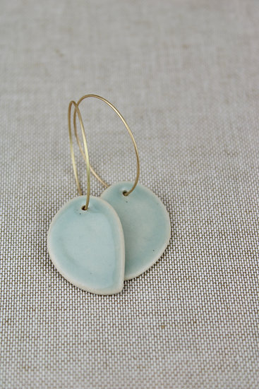 Earrings  | Soft Green Petal