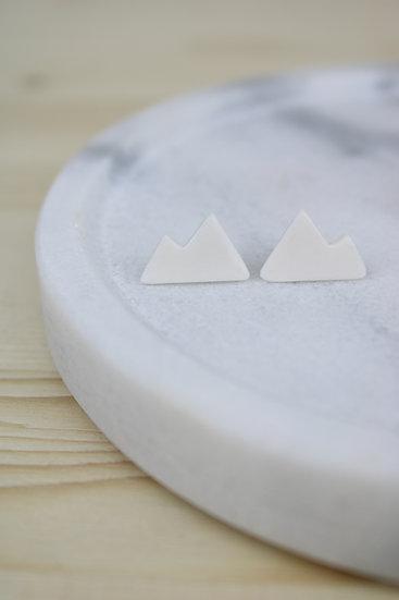 Earrings     Porcelain Mountain Studs