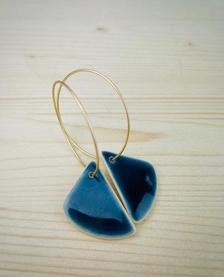 Navy Angle Earrings