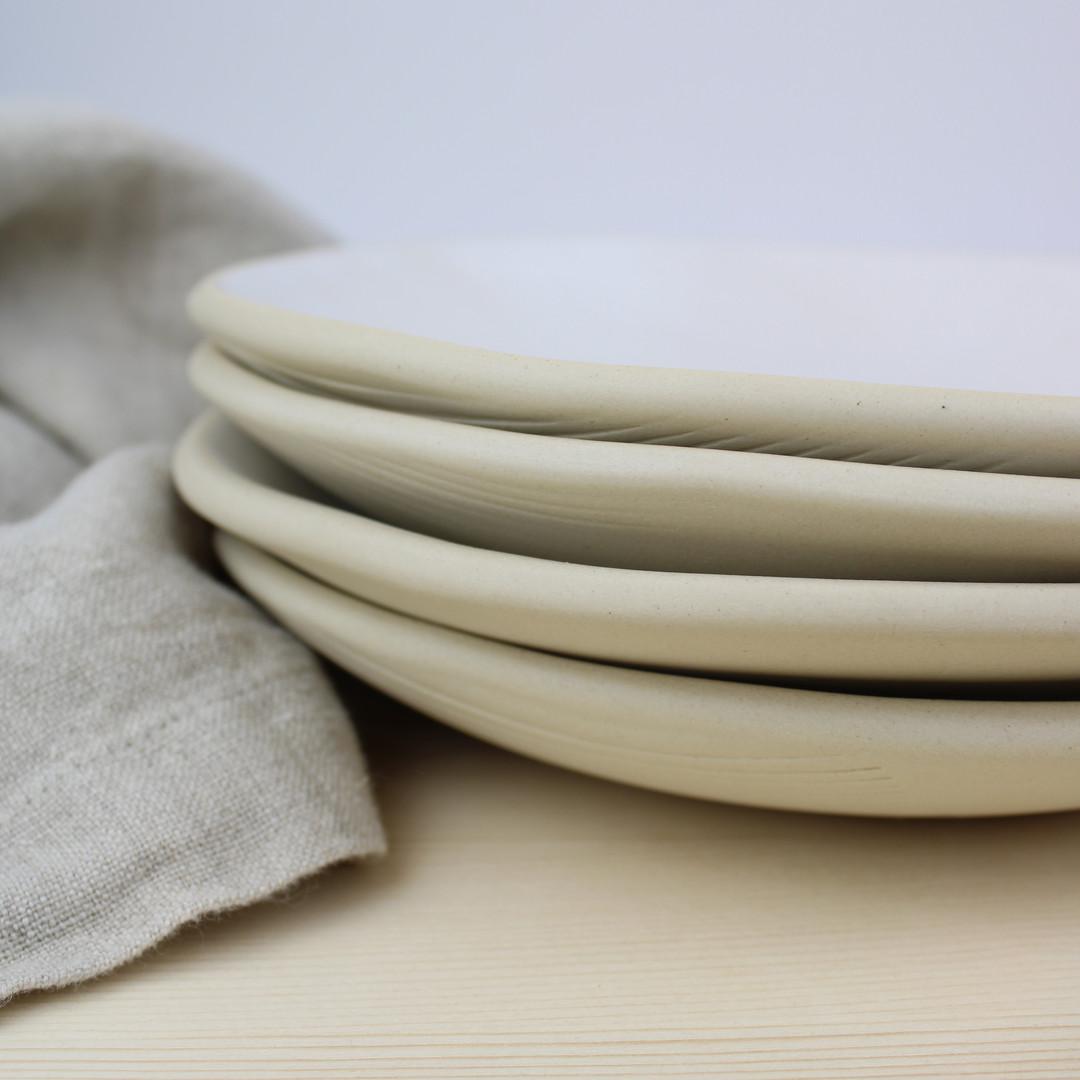 Matte white + raw bowls