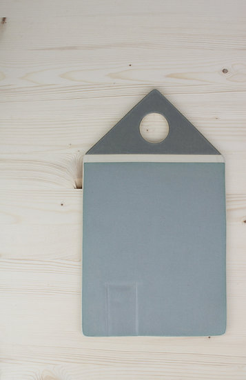 Home Sweet Home Appetizer Plate  |  Matte Charcoal + Grey Blue