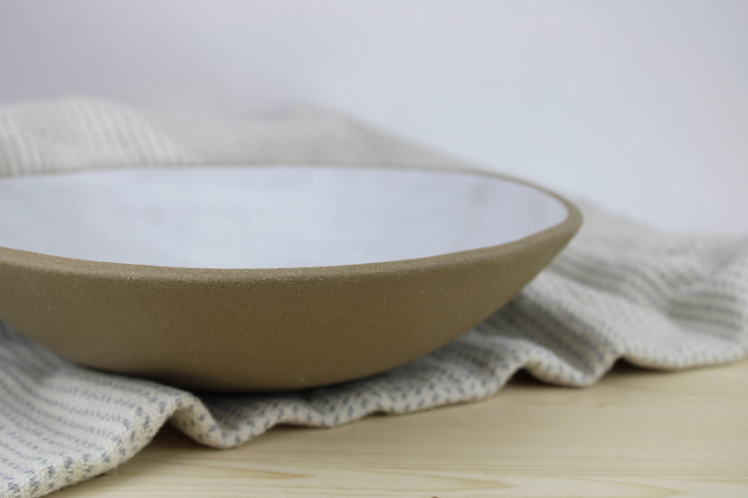 Sandy Bowl | Raw Sandy Clay + Matte White