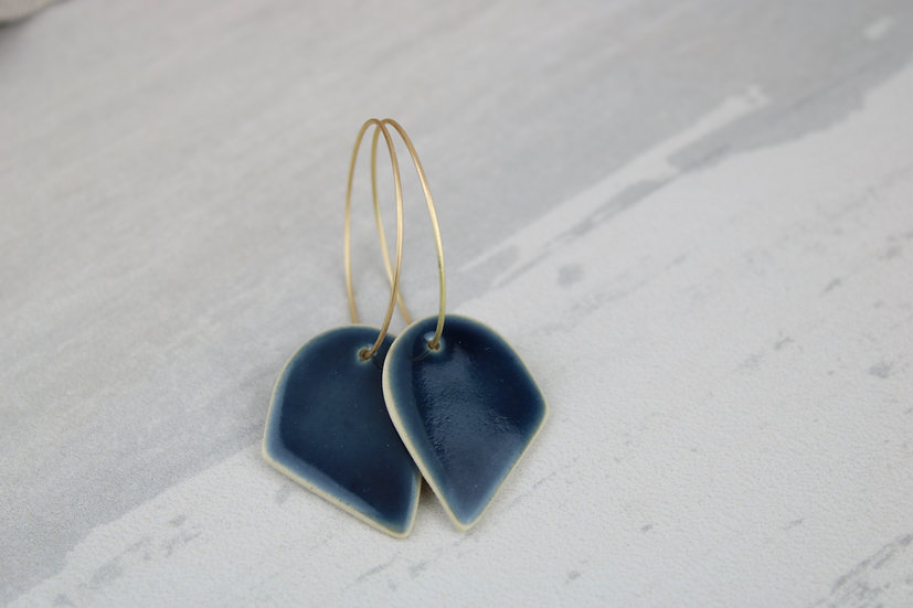 Earrings  | Deep Blue Angled Arches