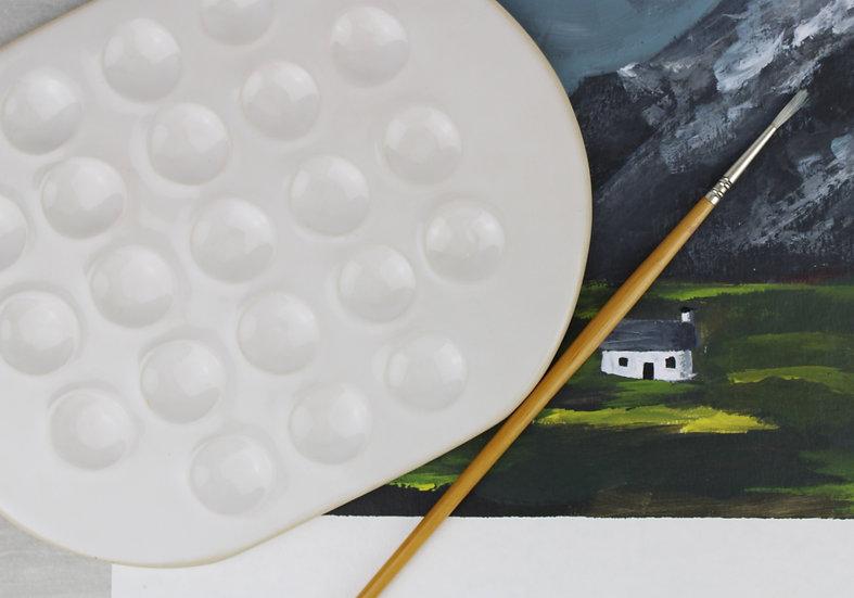 Large Paint Palette | Gloss White