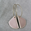 Thumbnail: Earrings  |  Rounded Triangle Blush Pink