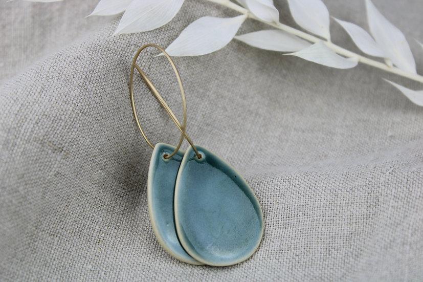 Earrings  |  Deep Blue Green Drop