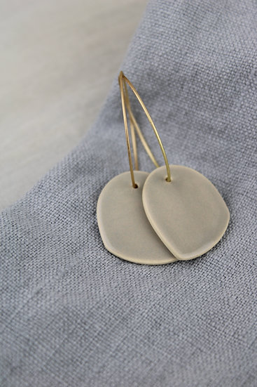 Earrings  | Grey Rounded Arches