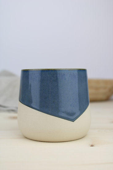 Cup  |  Deep Blue Angled + Raw