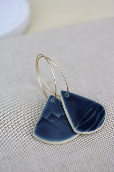 Earrings  |  Navy Land + Sea