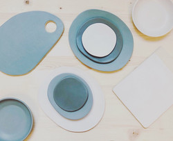 matte dishes