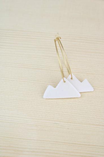 Earrings  |  Porcelain Mountains